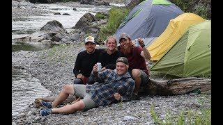 Backcountry Camping with Friends - Fishing, Hiking, & Campfire Cooking - We Found A Secret Cave!!