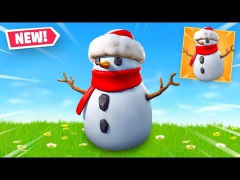 🔴 NEW SNEAKY SNOWMAN in Fortnite Battle Royale thumbnail