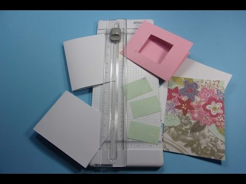 Paper Trimming for Beginners, How to Cut Cards, Windows, Small Paper Pieces etc.