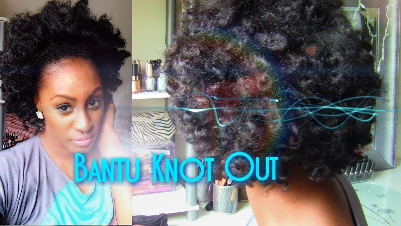 how to bantu knot out on stretched blown 4a fine natural hair