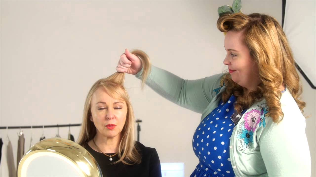 A Simple 50s Hairstyle Anyone Can Do In Minutes The Victory Roll