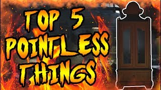 Top 5 WORST Waste of Points! Call of Duty Zombies Black Ops 3, BO2, BO & WAW Gameplay