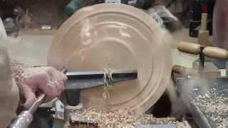 Wood Turning - Rough Turning A Wet Ash Bowl