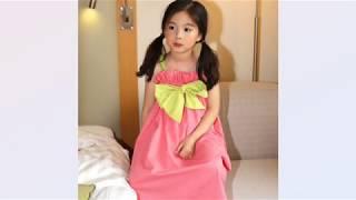 퍼키 FURKEY 여아 끈나시 튤립 배색 원피스 드레스
