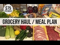 CHEAP GROCERY HAUL // 2 Week Meal Plan // $75 Per Week // How to Save on Groceries