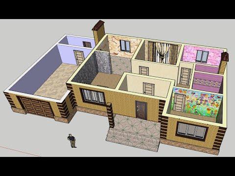 Проект дома или планировка квартиры в 3D собственными руками.