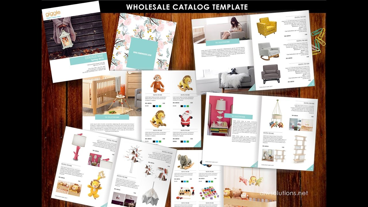 Wholesale Catalog Template Indesign Tutorial Youtube