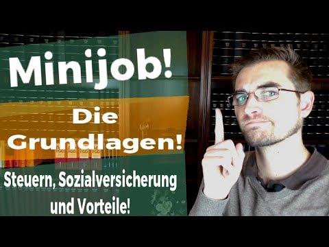 Die Grundlagen Des Minijob - Geringfügig Beschäftigte!