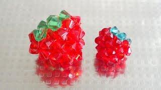 いちごの作り方 Strawberry, How to make beaded 【わんこビーズ r116】