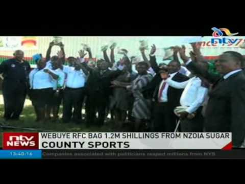 Webuye Rugby Football club bag 1.2m shillings from Nzoia sugar