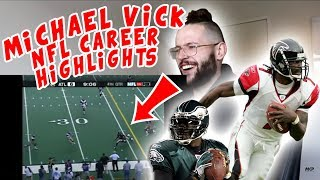 Rugby Player Reacts to MICHAEL VICK NFL Career Highlights YouTube Video