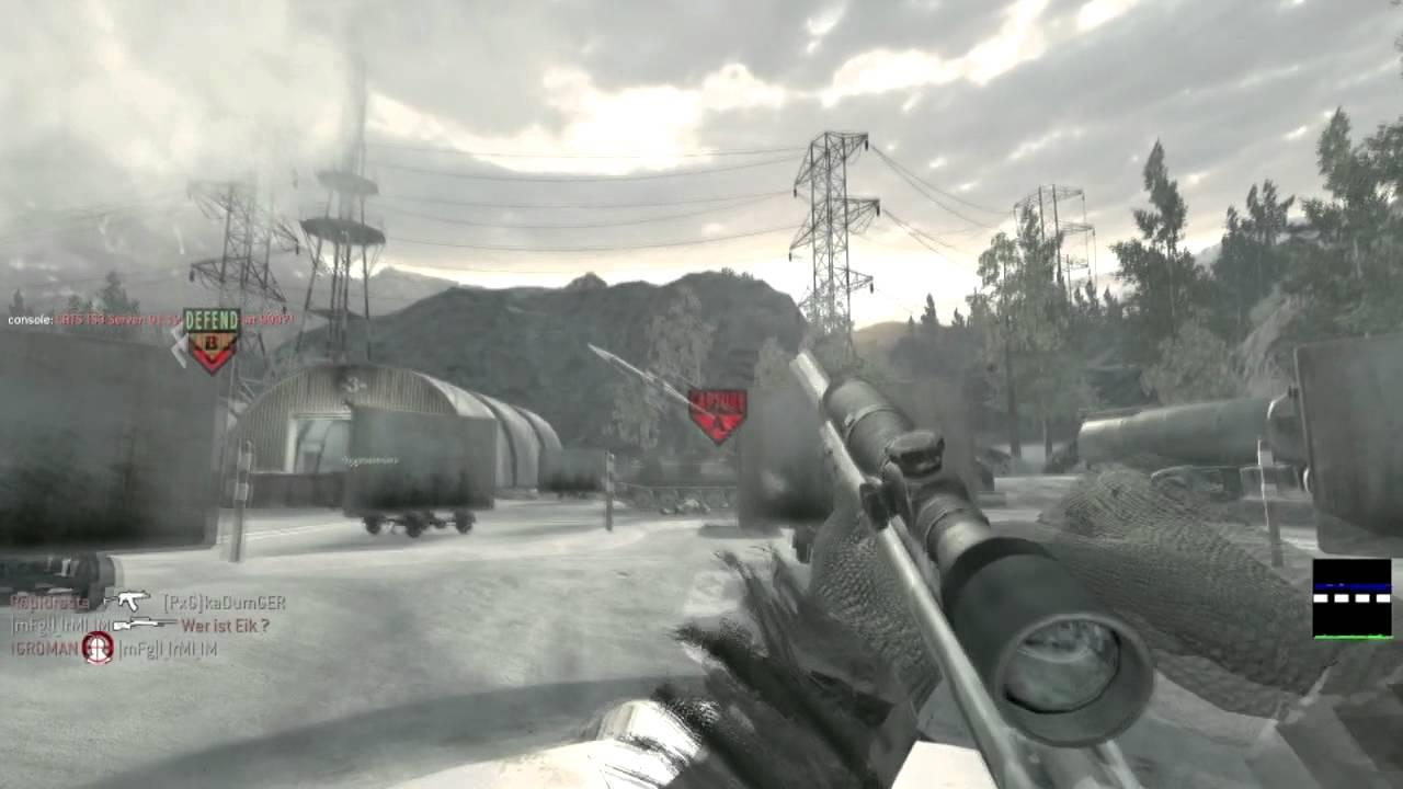 """[Video fun] 21-3 au sniper sur Call of Duty 4 ! """"SALUT TOUT LE MONDE !"""""""