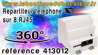 Répartiteur téléphonique 2x4 sorties- pour coffret Optimum manuel  4 modules  ref 413012