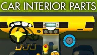 Car Interior Parts 🚗 (Lord Pain)   Scrap Mechanic Mod Review