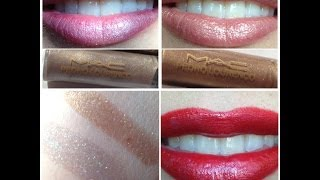 Mac pedro lourenco tinted lipglass mirror and gold mirror review swatches