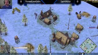 ThreeEyedOdin vs IamMito - Age of Mythology: The Titans (Game 1)
