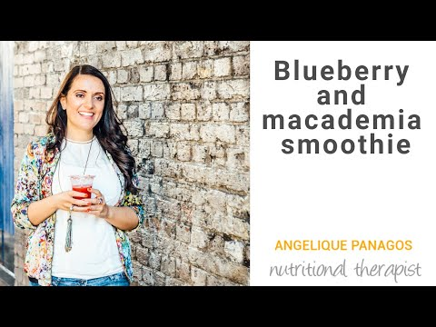 Blueberry and Macadamia Smoothie Recipe by Angelique Panagos for Asquith
