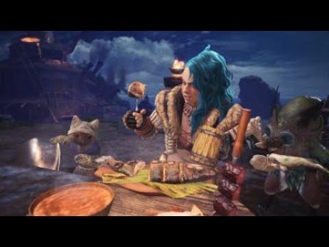 Monster Hunter World Cat Palico Chef Cut Scene Youtube