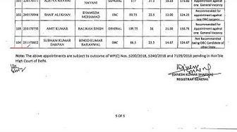 Delhi High Court Junior Judicial Assistant Exam 2017 Final Result out   Employments Point