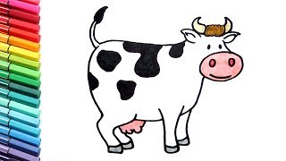 cow cartoon drawings drawing farm animals funny pages clipart draw cartton nursery clipartmag