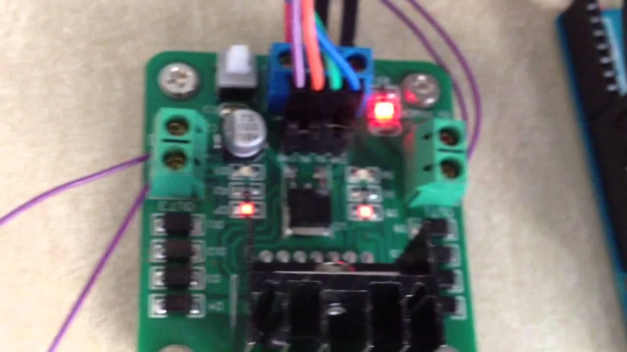 bipolar stepper with l298 dual h bridge motor controller arduino youtube [ 1280 x 720 Pixel ]