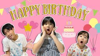 かのんちゃん8歳の誕生日パーティーをするよ❤️プレゼントは何かな?ケーキは何かな? サプライズ 誕生日会 バービー お祝い 姉妹