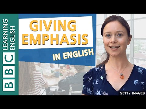 BBC Masterclass: Giving emphasis