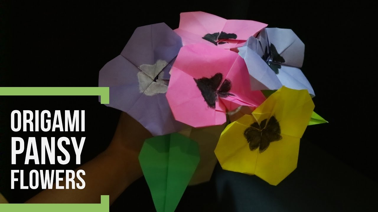 How To Make A Origami Flower Pansy Flower How To Make An Easy