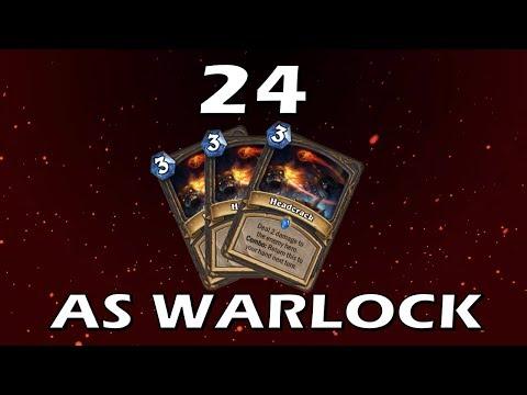 Hearthstone - 24 Headcracks in 1 Game as Warlock