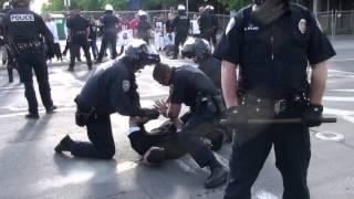 Stockton Police (Attacking civil rights demonstrator at Asparagus Festival)