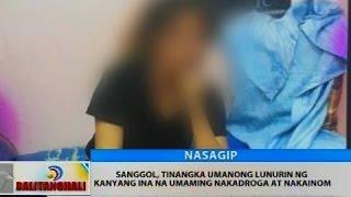 BT: Sanggol, tinangka umanong lunurin ng kanyang ina na umaming nakadroga at nakainom