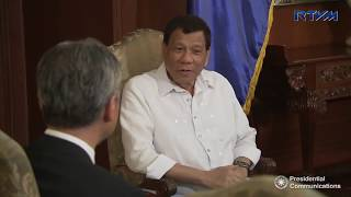 Pres. Duterte holds a meeting with H.E. Sung Kim, Ambassador of the United States of America
