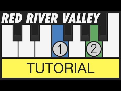 Red River Valley - How to Play - Very Easy Piano Tutorial
