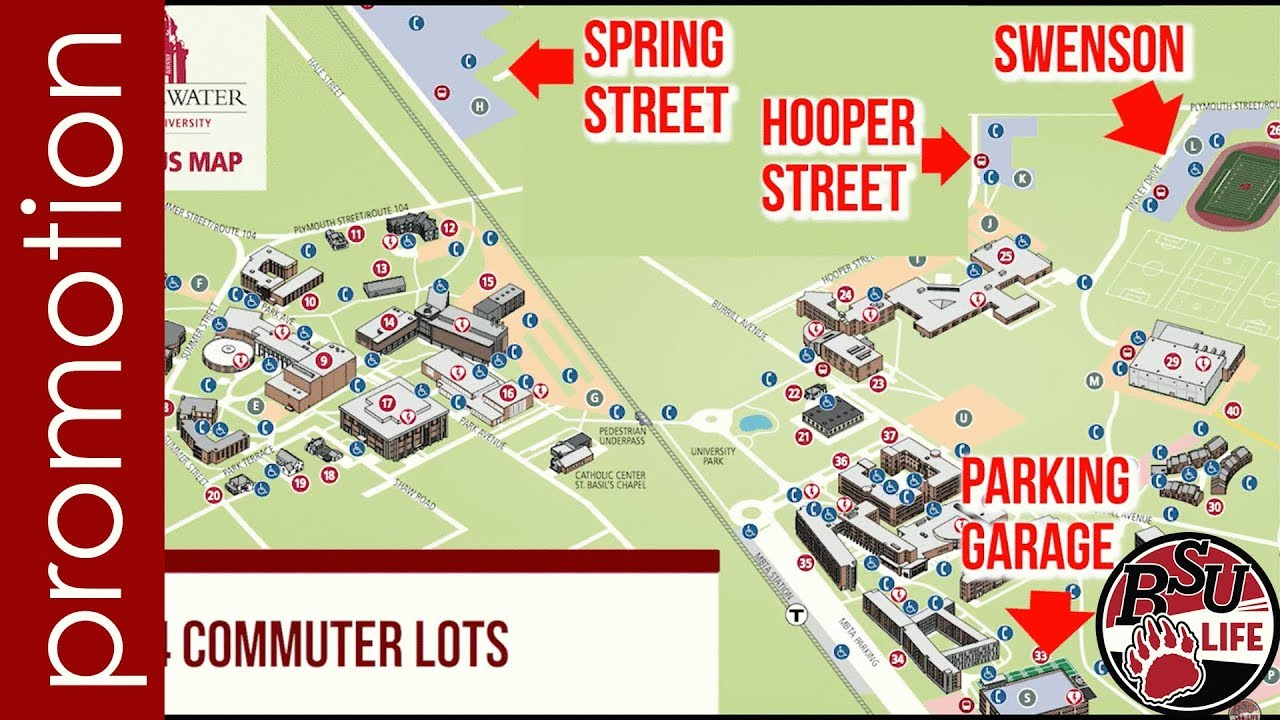 Bridgewater State University Campus Map | Park Map