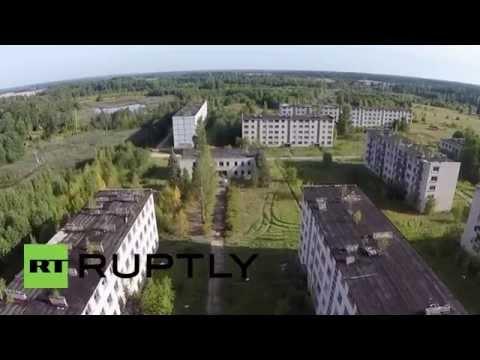 Latvia: Drone footage reveals former Soviet secret city of Skrunda-1
