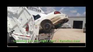 Crushing a Entire Car with a Garbage Truck  Magnum