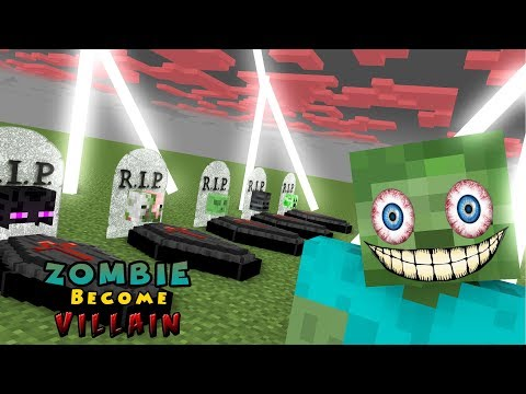 Monster School | VILLAIN ZOMBIE RIP MOBS | Monster School