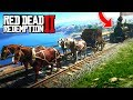1 TRAIN vs 4 HORSES! (Red Dead 2 FAILS & FUNNY MOMENTS! #2)