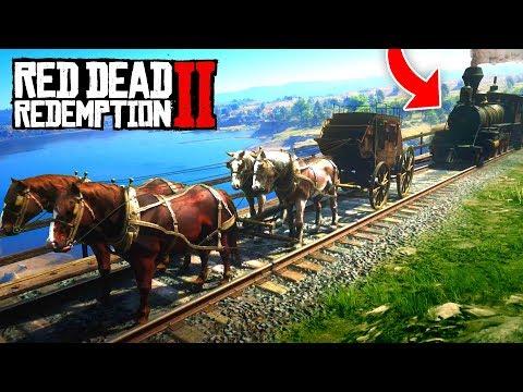 1 TRAIN vs 4 HORSES! (Red Dead 2 FAILS & FUNNY MOMENTS! #2)