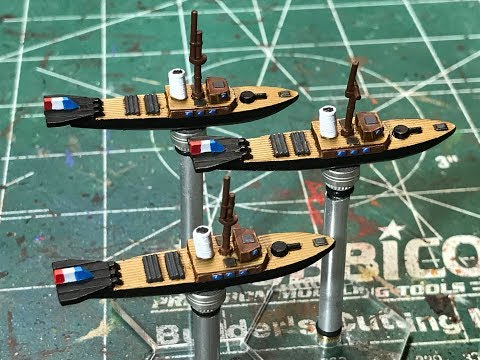 French Fleet for Imperial Skies - Painting Le Brouchet Class Torpedo Frigate
