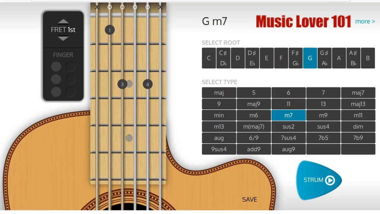 Gm7 Chord Guitar Youtube