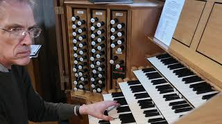 Improvisation in the style of a Baroque organ concerto