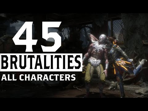 Mortal Kombat 11 - All Characters Brutalities Compilation, Total 45 Krypt Brutalities So Far