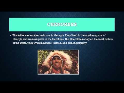Creek And Cherokee Indians Of Georgia