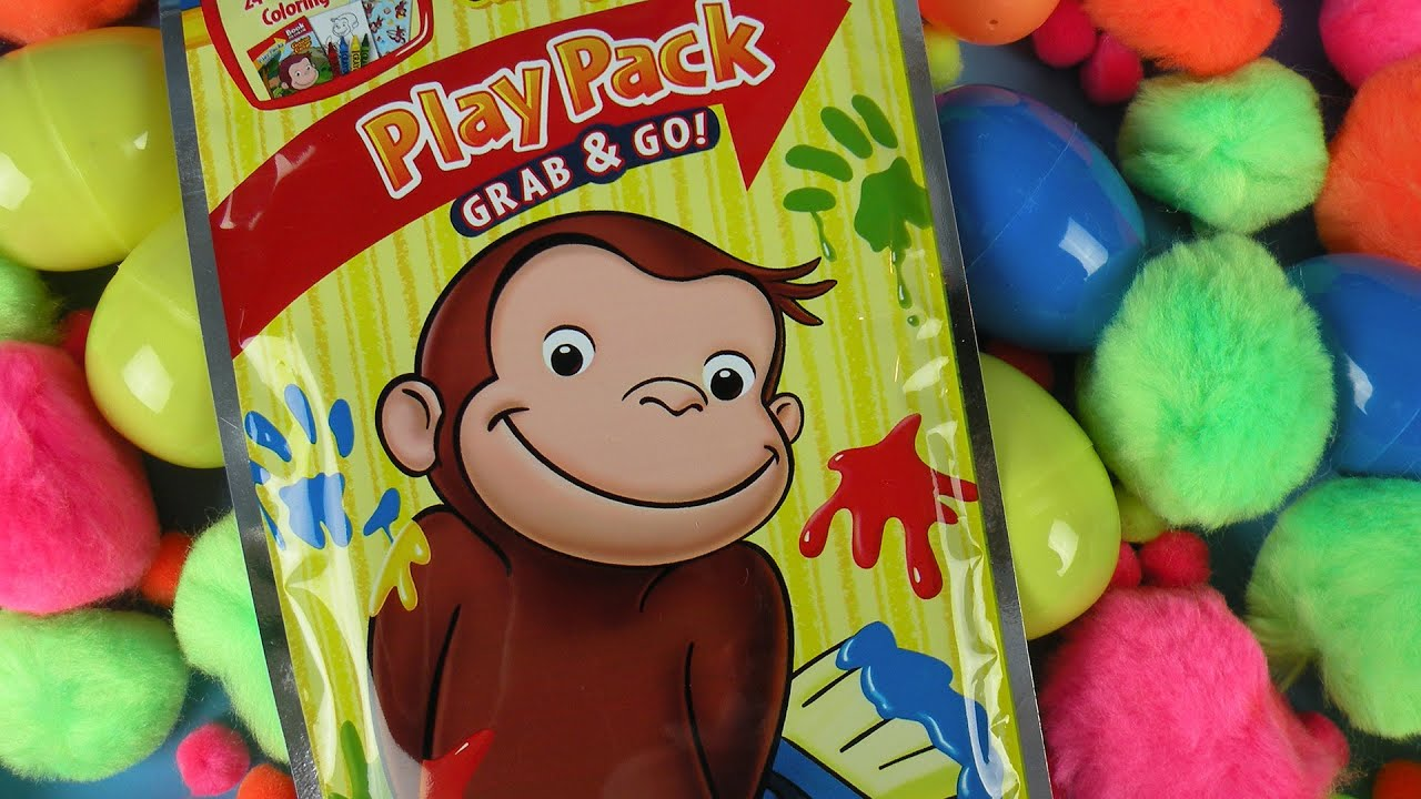 Curious George Coloring Pages Curious George Stickers Play Pack
