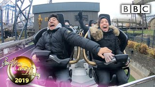 Our couples take a hair-raising rollercoaster ride 😂 - Blackpool | BBC Strictly 2019