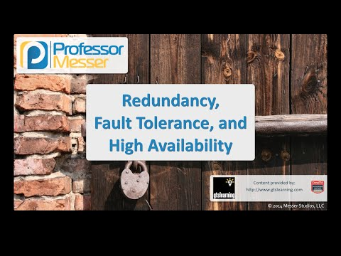 Redundancy, Fault Tolerance, and High Availability - CompTIA Security+ SY0-401: 2.8