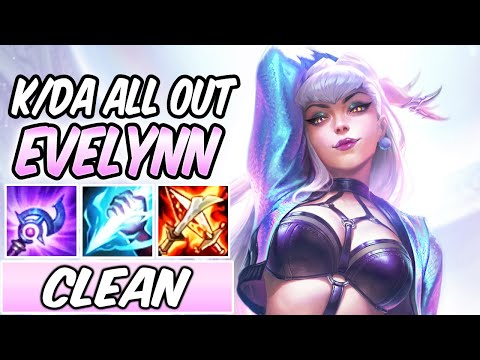 EVELYNN K/DA ALL OUT FULL AP JUNGLE GAMEPLAY - NEW AMAZING SKIN | Build & Runes | League of Legends