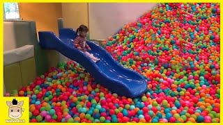 Indoor Playground Fun for Kids and Family Slide Play Rainbow Colors Balls | MariAndKids Toys
