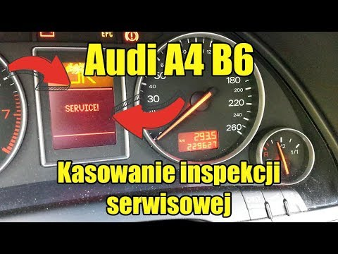 Kasowanie inspekcji serwisowej Audi A4 B6